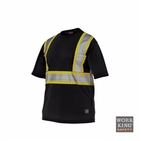 Richlu S395 Short Sleeve Safety T-Shirt w/ Segmented Reflective Stripes