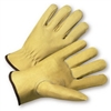 Pigskin Leather with Red Fleece Lining Gloves