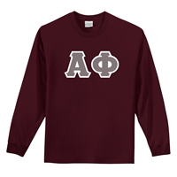Alpha Phi Long-sleeve Letter Shirt