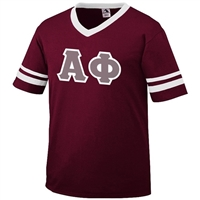 Alpha Phi Sleeve Stripe Greek Letter Shirt