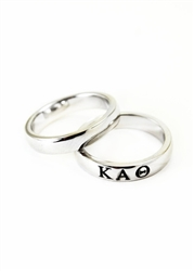 Kappa Alpha Theta Sterling Silver Ring