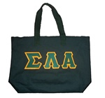Greek Letter Zipper Tote Bag