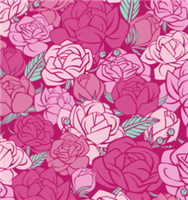 Roses Pattern-Glitter Greek Letter Apparel