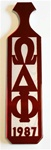 Omega Phi Chi Year Handle Paddle