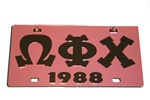 Omega Phi Chi License Plate