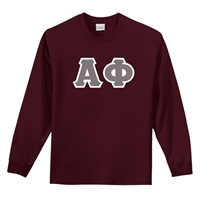 Alpha Phi Greek Letter Long Sleeve Shirt