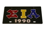 Sigma Iota Alpha License Plate