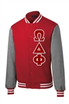 Omega Delta Phi Fleece Letterman Jacket