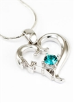 Zeta Tau Alpha Beta Heart Pendant