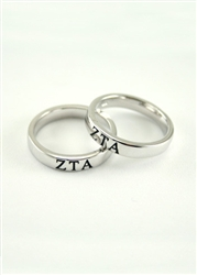 Zeta Tau Alpha Sterling Silver Ring