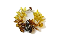 The Amber Monkey Baltic Amber Linen Falls Bracelet-  7-8 inch