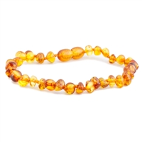The Amber Monkey Polished Baroque Baltic Amber Bracelet-Honey