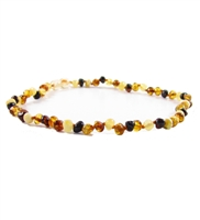 The Amber Monkey 14-15 inch Baroque Baltic Amber Necklace - Raw Multi