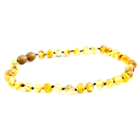 The Amber Monkey Baroque Baltic Amber 10-11 inch Necklace - Raw Pear