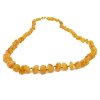 The Amber Monkey Baroque Baltic Amber 21-22 inch Necklace - Raw Honey