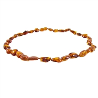 The Amber Monkey Polished Baltic Amber 14-15 inch Necklace -  Cherry Bean Discontinued