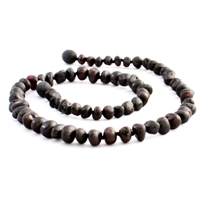 The Amber Monkey Baroque Baltic Amber 14-15 inch Necklace - Raw Chestnut