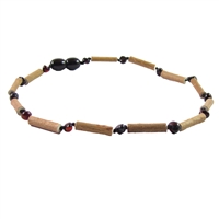 The Amber Monkey Hazelwood & Baltic Amber 14-15 inch Necklace - Chestnut/Hazelwood