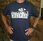 Navy blue NOLA Street Tiles T-shirt by Elmers CheeWees