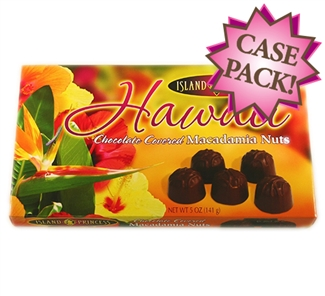Hawaii Floral Chocolate Covered Macadamia Nuts
