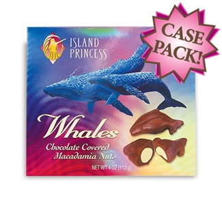 Chocolate Covered Whole Macadamia Nut Whales Gift Box
