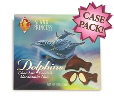 Hawaiian Dolphins Chocolate Covered Whole Mac Nuts