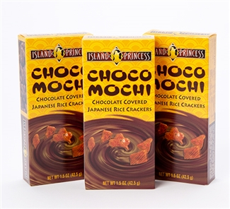Choco Mochi Chocolate Covered Rice Crackers 1.5 oz box