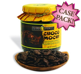 Choco Mochi Chocolate Covered Rice Crackers Jar