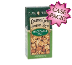 Hawaiian Style Macadamia Nut Caramel Corn 2.5 oz. Box