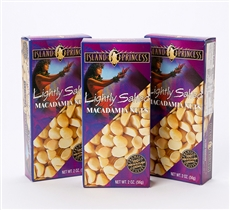 Lightly Salted Macadamia Nuts boxes