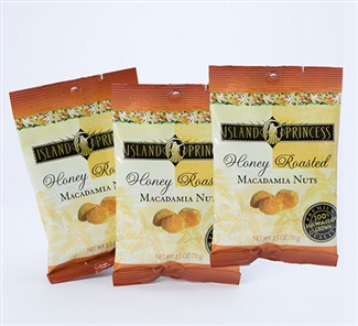 Honey Roasted Macadamia Nuts 2.5oz Snack Bags