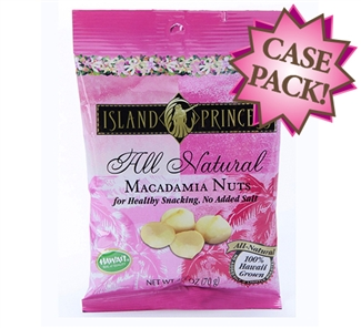 All Natural No Salt Added Macadamia Nuts snack Bags