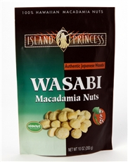 Wasabi Macadamia Nuts Resealable Bag 10oz (1 Bag)