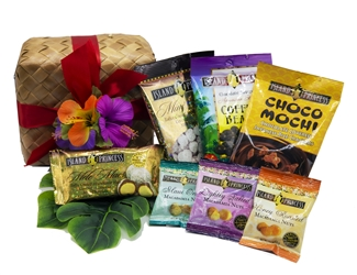 Just a Little Aloha Gift Basket - Comes with 7 snack Bags of our top sellers