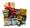 Mahalo Nui Loa Gift Basket - Comes with 10 different snack Bags and resealable Bags
