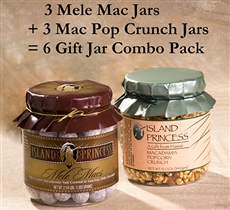 Mele Mac Gift Jar and Macadamia Popcorn Crunch Jars