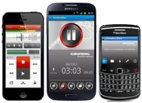 Grundig Dictation Blue Mobile Phone App