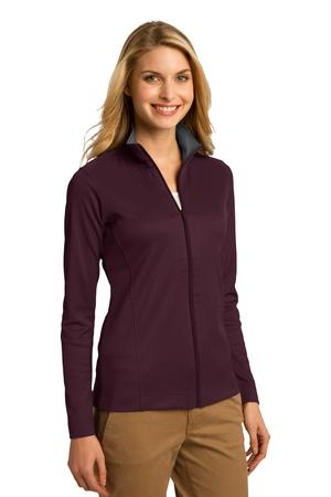 Port Authority Ladies Vertical Texture Full Zip Jacket