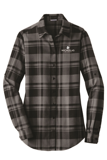 Port Authority Ladies Plaid Flannel Tunic