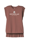 Bella+Canvas Womens Flowy Muscle Tee With Rolled Cuffs