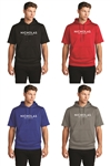 Sport-Tek Fleece Short Sleeve Hooded Pullover