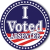 I Voted Absentee • Roll of 1000