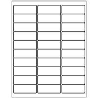 "Address Labels - 2 5/8"" x 1"" - 30 per Sheet - 100 Sheet Pack"