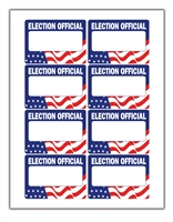 Election Official Name Tags • Sheets of 8 • 125 Sheet Package