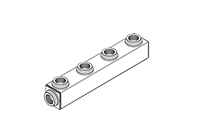 "Manifold, 1-1/4"" Inlet x (4) 1-1/4"" Outlets"