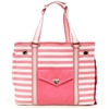 Pink Striped Canvas Dog Cat Tote