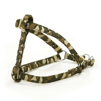 Camouflage Microsuede Small Dog Harness
