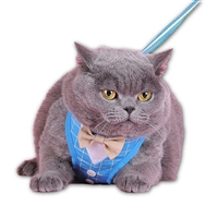Bow Tie Blue Cat Harness
