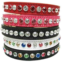 Fancy Leather Luxury Designer Dog Cat Collars | Bling | Custom