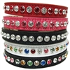 Custom Leather Bling Cat Collars